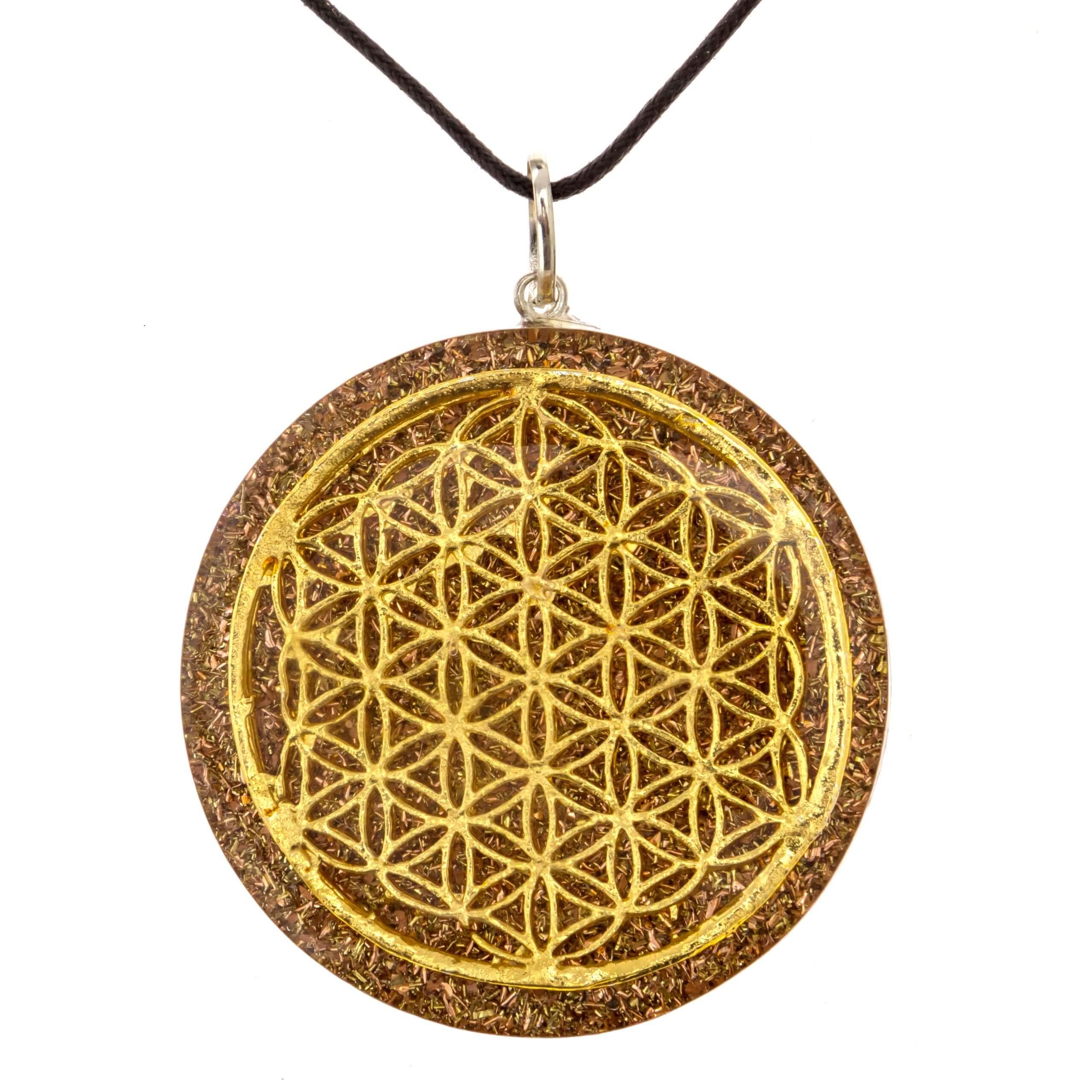 Flower of life orgone pendant for sale ralieva flower of life orgone pendant aloadofball Images