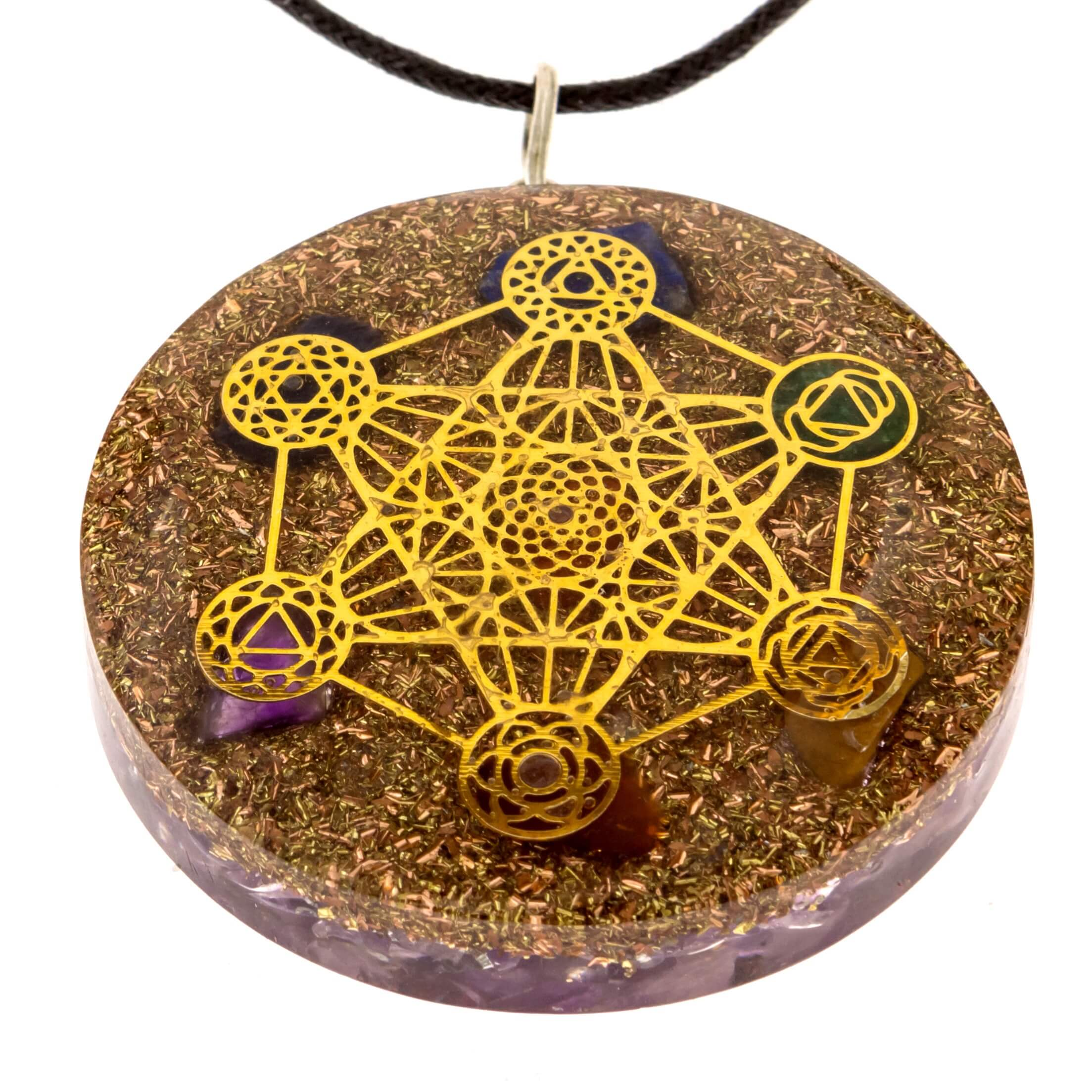 Metatron cube merkaba orgone pendant for sale ralieva metatron cube necklaces aloadofball Images